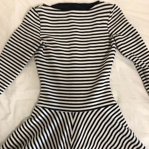 Zara Skater Striped Dress